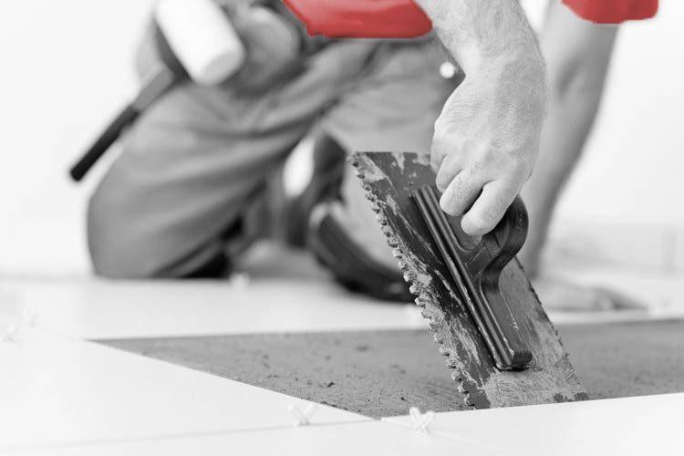 Kakelsättning av golv och väggar